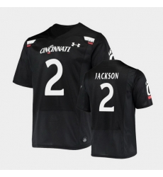 Men Cincinnati Bearcats Jayshon Jackson Replica Black Football Jersey