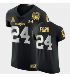 Men Cincinnati Bearcats Jerome Ford 2021 Peach Bowl Black Golden Edition Jersey