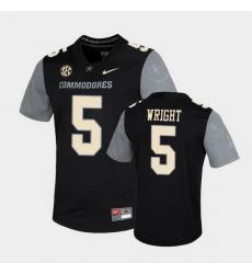 Men Vanderbilt Commodores Mike Wright Untouchable Black Game Jersey