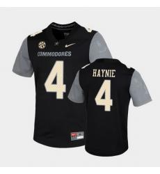 Men Vanderbilt Commodores Randall Haynie Untouchable Black Game Jersey