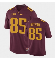 Men Minnesota Golden Gophers Bryce Witham Replica Maroon College Football Jersey