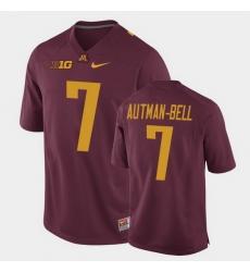 Men Minnesota Golden Gophers Chris Autman Bell Replica Maroon College Football Jersey