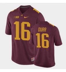 Men Minnesota Golden Gophers Coney Durr Replica Maroon College Football Jersey