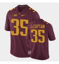 Men Minnesota Golden Gophers Derik Lecaptain Replica Maroon College Football Jersey