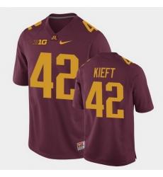 Men Minnesota Golden Gophers Ko Kieft Replica Maroon College Football Jersey