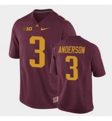 Men Minnesota Golden Gophers Mj Anderson Replica Maroon College Football Jersey