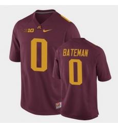 Men Minnesota Golden Gophers Rashod Bateman Replica Maroon College Football Jersey