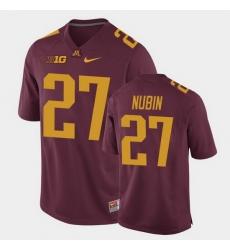 Men Minnesota Golden Gophers Tyler Nubin Replica Maroon College Football Jersey