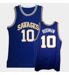Men Dennis Rodman College Basketball Blue Jersey