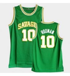 Men Dennis Rodman College Basketball Green Jersey
