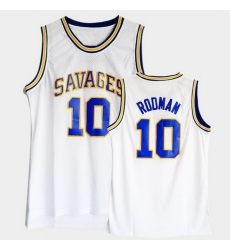 Men Dennis Rodman College Basketball White Jersey