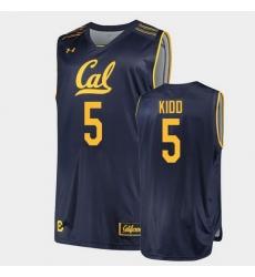 Men Jason Kidd College Basketball Navy Jersey
