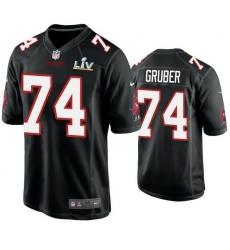 Men Paul Gruber Buccaneers Black Super Bowl Lv Game Fashion Jersey