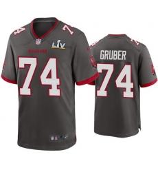 Men Paul Gruber Buccaneers Pewter Super Bowl Lv Game Jersey