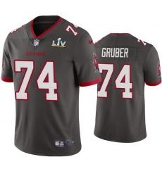 Men Paul Gruber Buccaneers Pewter Super Bowl Lv Vapor Limited Jersey
