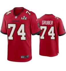 Men Paul Gruber Buccaneers Red Super Bowl Lv Game Jersey