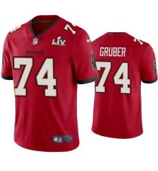 Men Paul Gruber Buccaneers Red Super Bowl Lv Vapor Limited Jersey