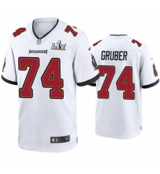 Men Paul Gruber Buccaneers White Super Bowl Lv Game Jersey