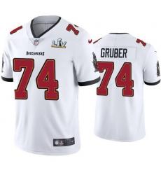 Men Paul Gruber Buccaneers White Super Bowl Lv Vapor Limited Jersey