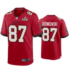 Men Rob Gronkowski Buccaneers Red Super Bowl Lv Game Jersey