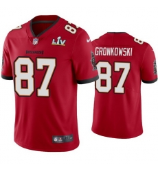 Men Rob Gronkowski Buccaneers Red Super Bowl Lv Vapor Limited Jersey