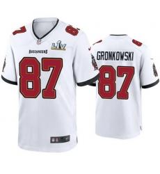Men Rob Gronkowski Buccaneers White Super Bowl Lv Game Jersey