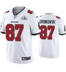 Men Rob Gronkowski Buccaneers White Super Bowl Lv Vapor Limited Jersey