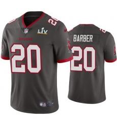 Men Ronde Barber Buccaneers Pewter Super Bowl Lv Vapor Limited Jersey