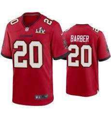 Men Ronde Barber Buccaneers Red Super Bowl Lv Game Jersey