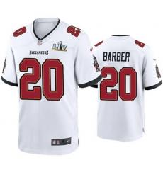 Men Ronde Barber Buccaneers White Super Bowl Lv Game Jersey
