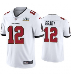 Men Tom Brady Buccaneers White Super Bowl Lv Vapor Limited Jersey