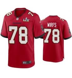 Men Tristan Wirfs Buccaneers Red Super Bowl Lv Game Jersey