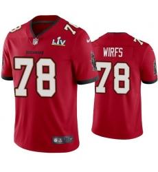 Men Tristan Wirfs Buccaneers Red Super Bowl Lv Vapor Limited Jersey