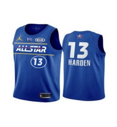 Men 2021 All Star 13 James Harden Blue Eastern Conference Stitched NBA Jersey