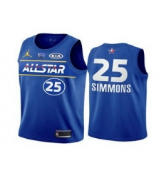 Men 2021 All Star 25 Ben Simmons Blue Eastern Conference Stitched NBA Jersey