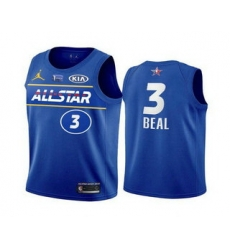 Men 2021 All Star Washington Wizards 3 Bradley Beal Blue Eastern Conference Stitched NBA Jersey