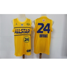 lakers 24 Kobe Bryant 2021 All Star Game Yellow Swingman Jersey