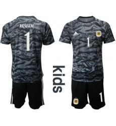 Kids Argentina Short Soccer Jerseys 004