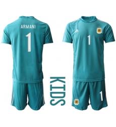 Kids Argentina Short Soccer Jerseys 008