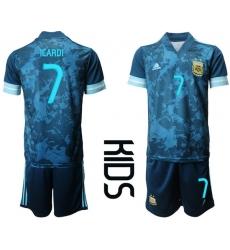 Kids Argentina Short Soccer Jerseys 012
