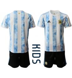 Kids Argentina Short Soccer Jerseys 023