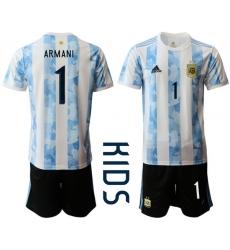 Kids Argentina Short Soccer Jerseys 024