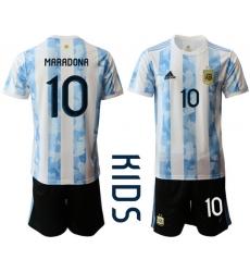 Kids Argentina Short Soccer Jerseys 027