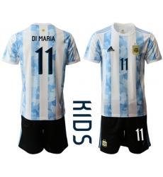 Kids Argentina Short Soccer Jerseys 029