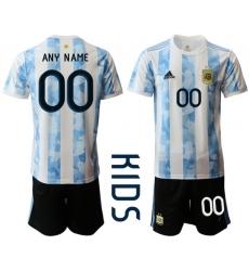 Kids Argentina Short Soccer Jerseys 034