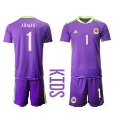 Kids Argentina Short Soccer Jerseys 036