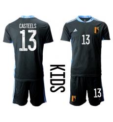 Kids Belgium Short Soccer Jerseys 005