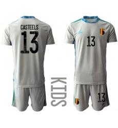 Kids Belgium Short Soccer Jerseys 018