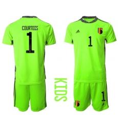 Kids Belgium Short Soccer Jerseys 023