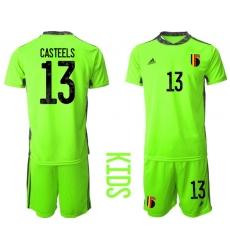 Kids Belgium Short Soccer Jerseys 024